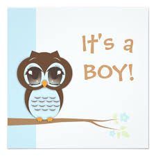 it s a boy baby shower baby owl it s a boy baby shower invitation square invitation card