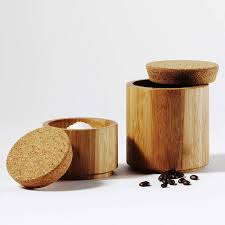 green canisters kitchen bamboo and cork canister cork storage jars and kitchen accessories