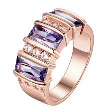 rose gold wedding set amethyst online buy wholesale cz wedding ring set 18k from china cz wedding
