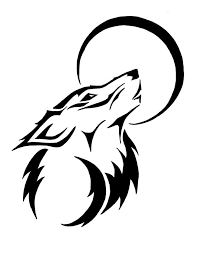 cool tribal wolf drawings clipartxtras