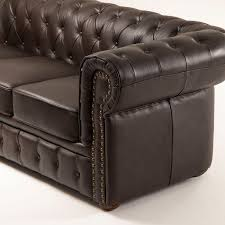 Chesterfield Full Genuine Leather Sofa  Seater - Full leather sofas