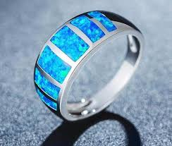natural opal rings images Colors of the caribbean premium blue opal ring save our oceans jpg