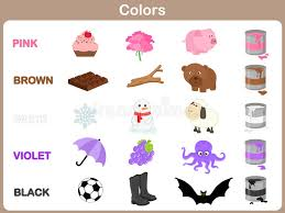 funny colors learning the object colors for kids stock vector illustration of