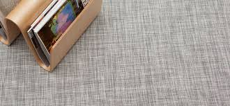 Chilewich Doormats Chilewich Floor Woven Floor Mats Ikat White Silver