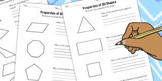 year 4 properties of 2d shapes activity sheet pack activity