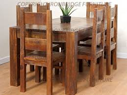 Rustic Dining Room Table With Bench Kitchen Rustic Kitchen Tables And 17 Dining Room Tables Easy