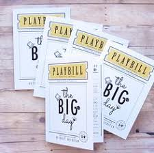 playbill wedding program playbill wedding program inside design wedding