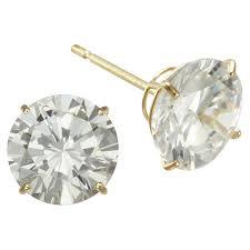cubic zirconia stud earrings 7mm cubic zirconia stud earrings 14k gold jcpenney