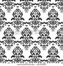 seamless pattern vintage baroque ornament border stock vector