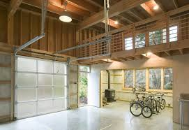 garage ceiling designs garage modern with exposed studs polished