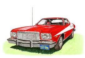 Starsky And Hutch Gran Torino For Sale Starsky Hutch 1974 Ford Gran Torino Sport Painting By Jack Pumphrey