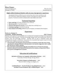 Informatica Sample Resume by Database Modeler Resume Sample