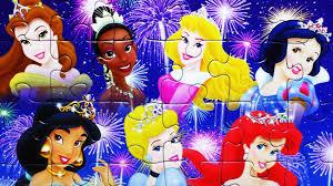 disney princess jigsaw puzzle games cinderella rapunzel snow white