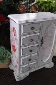 Shabby Chic Jewelry Armoire by Large Painted Jewelry Box Distressed Jewelry Box Shabby Cottage