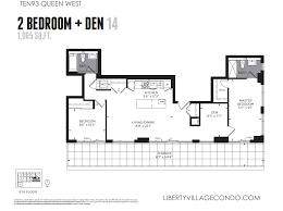 Den Floor Plan Ten93 Queen West Pre Construction Condo Liberty Village Condo