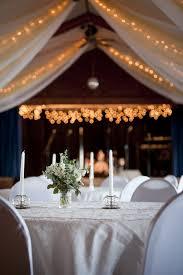 Wedding Reception Decorations Lights Elegant Indoor Wedding Reception Venue With Simple Table Decor