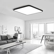 Ceiling Lights For Sitting Room Black Frame 36 Watts Thin Modern Simple Bedroom Balcony