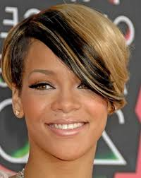 rihanna good hairstyle for diamond face shape short jpg
