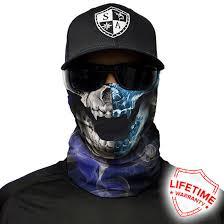 half half skull shield lightweight bandana spf40 sun