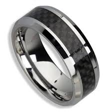 mens tungsten rings images Men 39 s tungsten ring black carbon fiber inlay 8mm band great as jpg
