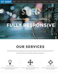 this free one page joomla theme has a responsive layout kunena