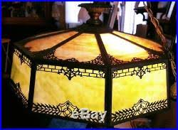 antique slag stained glass hanging lamp 1920s slag glass lamp