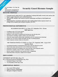 security guard resume sample u0026 writing tips resume companion
