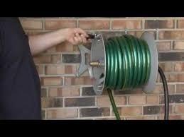 roughneck wall mount garden hose reel youtube
