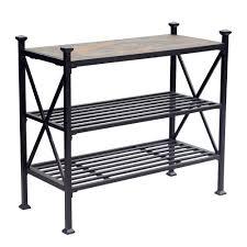 Patio Bakers Rack Sunjoy Hansel 40 In X 18 In Aluminum Slate Patio Side Table L
