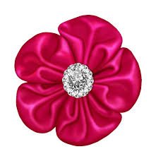 flower bow pink flower bow with diamond gallery yopriceville high