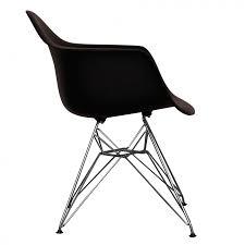 Eames Style Rar Molded Black Ray Eames Style Dar Arm Chair Chrome Legs Black