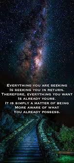 Is Seeking Everything You Are Seeking Is Seeking You In Return Therefore