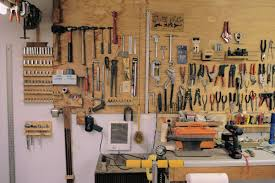 tools mounted on wall in nolls pleasant shop