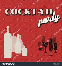 vector retro cocktail party invitation card stock vector 198601064