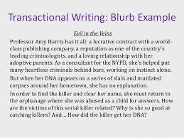 Success in Creative Writing Exams SlideShare Transactional Writing  Blurbs