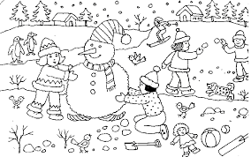 christmas snowman coloring page get coloring pages