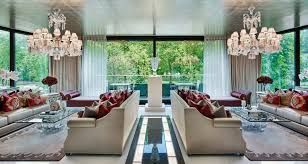 living room reception example matching double seating areas