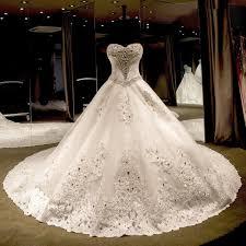 Wedding Dresses 2017 Luxurious Sweetheart Ball Gown Wedding Dress 2017 Crystal Beadings