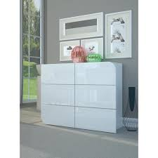 commode contemporaine chambre goccia commode de chambre style contemporain blanc laqué brillant