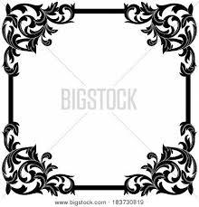vintage ornament pattern frame vector photo bigstock