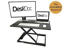 laptop standing desk converter deskdoc premium standing desk converter 32in x 20in workspace sit