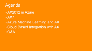 microsoft dynamics ax in azure ppt video online download
