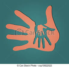vector illustration caring hands csp10822022 clipart