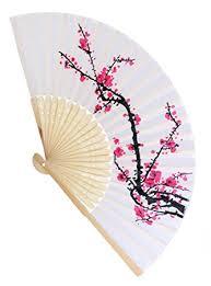 amazon com delicate cherry blossom design silk folding fan favors