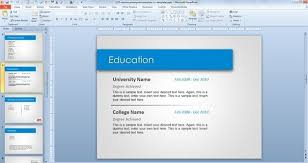 powerpoint resume template powerpoint resume templates best resume collection
