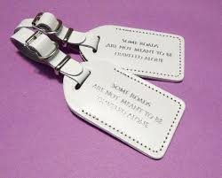 wedding favor luggage tags beautiful personalized luggage tags wedding favors gallery