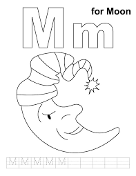 moon coloring handwriting practice download free