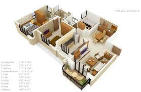 Small House Floor Plans Under 500 Sq Ft 50 Three U201c3 U201d Bedroom Apartment House Plans Roommate Bedrooms
