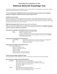 sample national skillsusa knowledge test