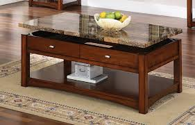 furniture rectangle brown granite top coffee table with lift up